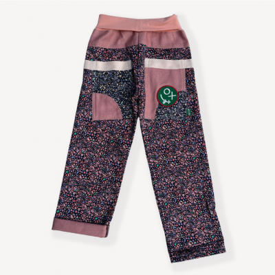 back of purple rain liberty print jeans for sizes 3-12years - Preorder